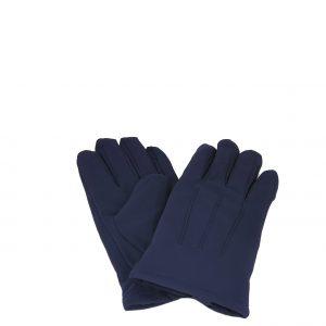 Verde γάντια ανδρικά μπλε με εσωτερική επένδυση γούνα