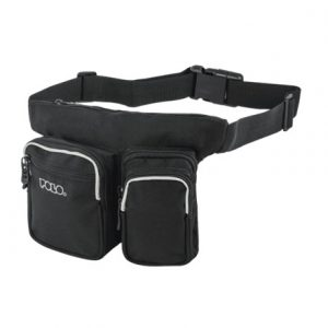 Polo μπανάνα μαύρη WAIST BAG DOUBLE MOBILE CASE