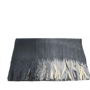 Εισαγωγική κασκόλ-πασμίνα ανδρικό μαύρο με ιδιαίτερη υφή