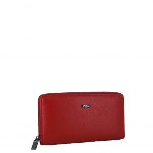 Verde πορτοφόλι γυναικείο κόκκινο δερμάτινο με αποσπώμενο λουράκι.