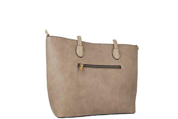 Τσάντα ώμου και χιαστί γυναικεία μπεζ