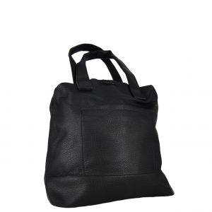 Τσάντα χεριού και χιαστί γυναικεία μαύρο με μαγνητικό κούμπωμα