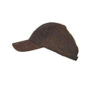 Karfil ανδρικό καπέλο jockey καφέ ψαροκόκαλο