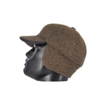 Hat You ανδρικό καπέλο jockey καφέ με προέκταση