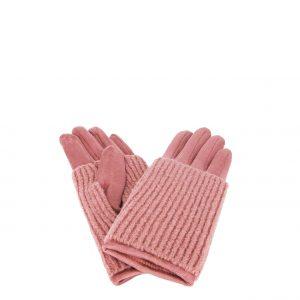 Verde γάντι ροζ γυναικείο με αποσπώμενη γκέτα