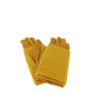 Verde γάντι κίτρινο γυναικείο με αποσπώμενη γκέτα