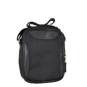 Bartuggi ανδρική τσάντα ταχυδρόμου μαύρη με λεπτομέρειες από δερματίνη