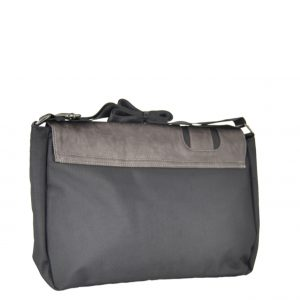 Bartuggi ανδρική τσάντα ταχυδρόμου μαύρο με λεπτομέρειες από δερματίνη