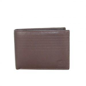 Lavor ανδρικό δερμάτινο πορτοφόλι καφέ ταυτότητας RFID