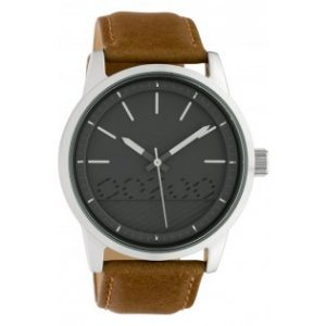 Oozoo Timepieces Black Leather Strap 45mm