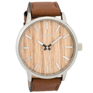 Oozoo Timepieces Brown Leather Strap 48mm