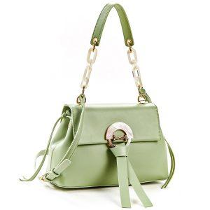 Verde τσάντα χεριού και χιαστί πράσινο