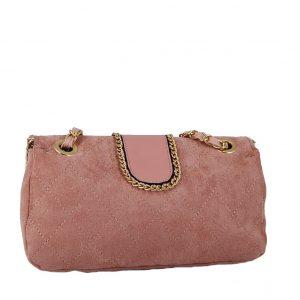 Verde τσάντα ώμου γυναικεία ροζ
