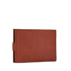 Ginis ανδρικό δερμάτινο πορτοφόλι ταμπά με κούμπωμα ταυτότητας