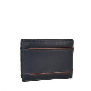 Lavor ανδρικό δερμάτινο πορτοφόλι μπλε RFID ταυτότητας