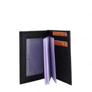Lavor ανδρικό δερμάτινο πορτοφόλι μαύρο RFID για κάρτες