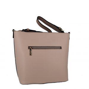Verde τσάντα χεριού και χιαστί ροζ-nude