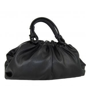Verde τσάντα γυναικεία χεριού μαύρη