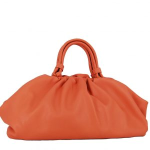 Verde τσάντα γυναικεία χεριού πορτοκαλί