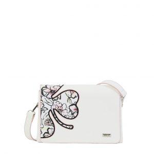 Doca τσάντα χιαστί γυναικεία άσπρη