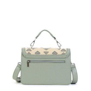Doca τσάντα χιαστί γυναικεία χρώμα μέντας