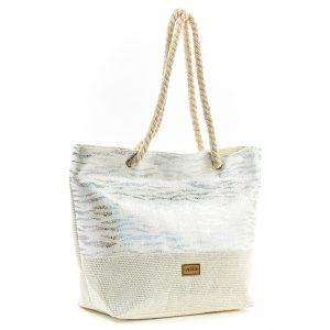 Verde τσάντα θαλάσσης γυναικεία άσπρη