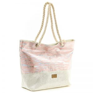 Verde τσάντα θαλάσσης γυναικεία ροζ