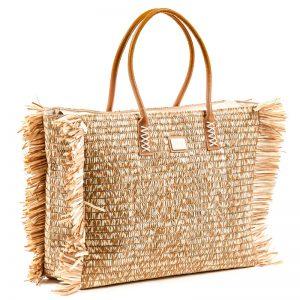 Verde τσάντα θαλάσσης γυναικεία χρυσό