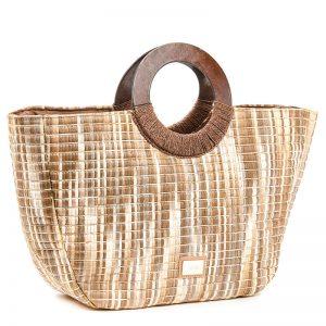 Verde τσάντα θαλάσσης γυναικεία μπεζ