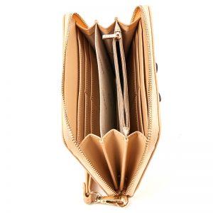 Verde πορτοφόλι γυναικείο μπεζ