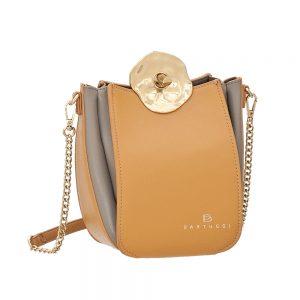 Bartuggi τσάντα χιαστί γυναικεία κίτρινη