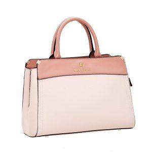 Bartuggi τσάντα ώμου γυναικεία ροζ