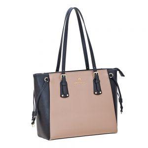 Bartuggi τσάντα ώμου γυναικεία μπεζ