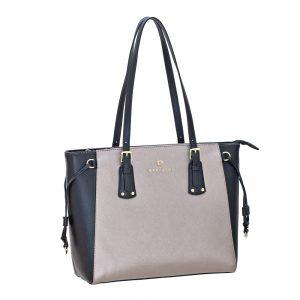 Bartuggi τσάντα ώμου γυναικεία ασημί