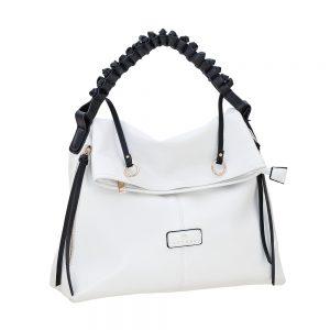Bartuggi τσάντα ώμου γυναικεία άσπρη