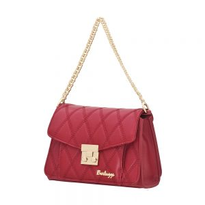 Bartuggi τσάντα ώμου γυναικεία μπορντό