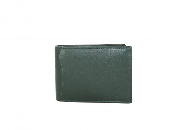 Lavor ανδρικό δερμάτινο πορτοφόλι πράσινο ταυτότητας RFID