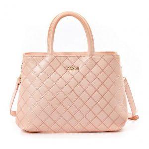 Verde τσάντα χεριού και ώμου/χιαστί γυναικεία ροζ