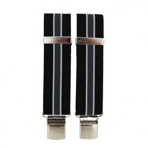Victoria ανδρικές τιράντες μαύρη με γκρι γραμμή