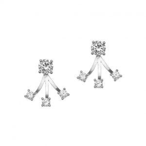Σκουλαρίκια ασημί επιπλατινωμένο ασήμι 925 με ζιρκόν