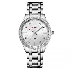 Curren γυναικείο Ρολόι 9010 ασημί
