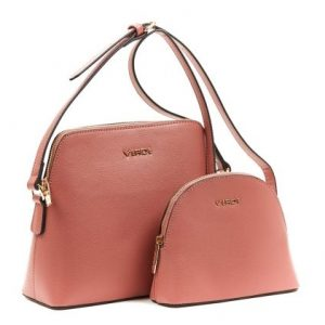 Verde τσάντα χιαστί ροζ