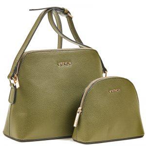 Verde τσάντα χιαστί πράσινη