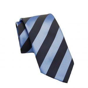 Ανδρική μεταξωτή γραβάτα μπλε-γκρι