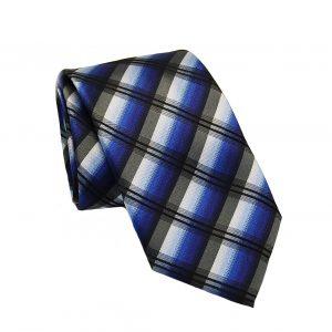 Ανδρική μεταξωτή γραβάτα καρό