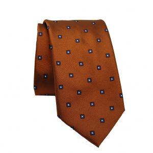 Ανδρική μεταξωτή γραβάτα κεραμιδή