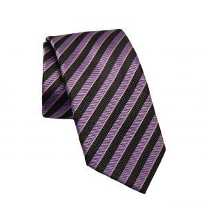 Ανδρική μεταξωτή γραβάτα μωβ-γκρι