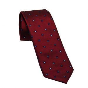Ανδρική μεταξωτή γραβάτα μπορντό