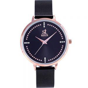 Season γυναικείο ρολόι μαύρο 2281-2 Salsa Series