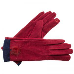 Verde γυναικεία γάντια one size μπορντό 02-595